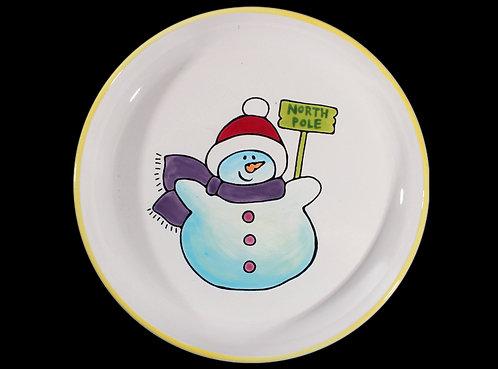 Prelined Snowman Plate
