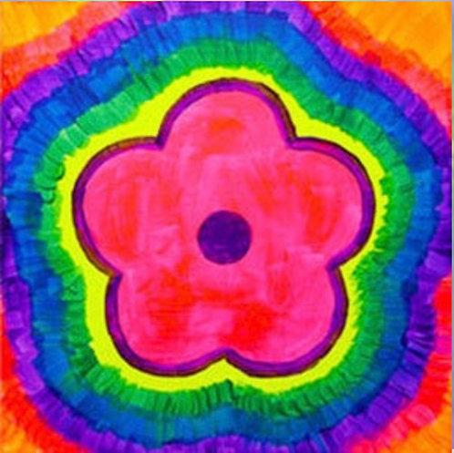 Flower Tie Dye Canvas