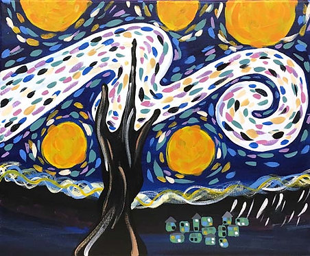 Large Starry Night Canvas