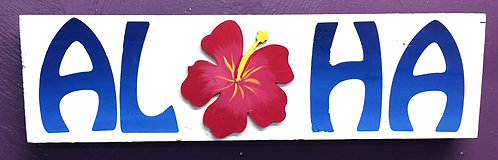 Aloha Board with Hibiscus Board Art