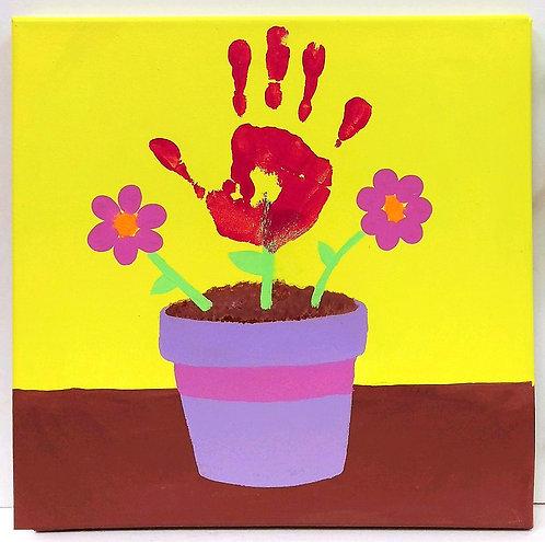 Handprint Flower Canvas