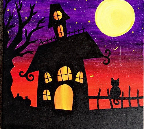 Haunted House Canvas