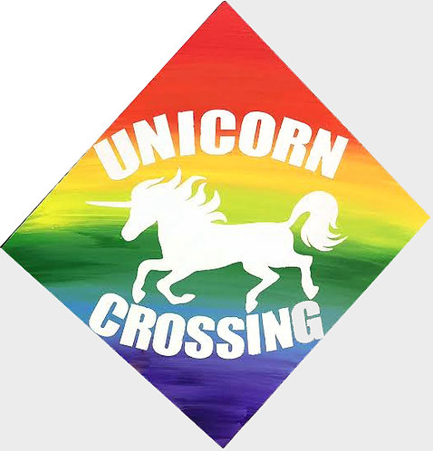 Unicorn Crossing Board Art