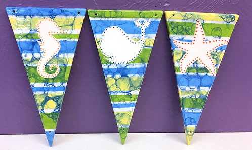 Bubbled Sea Pennant Banners