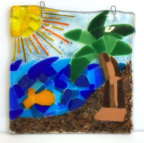 Beach Scene Glass
