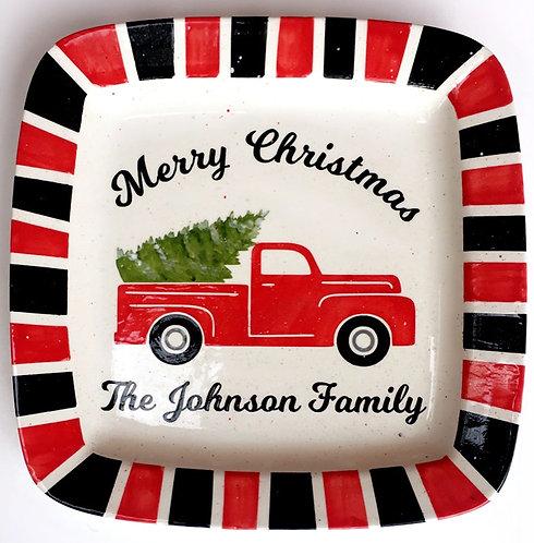 Merry Christmas Truck Platter