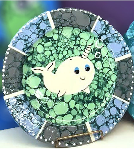 Bubbled Narwhal Plate