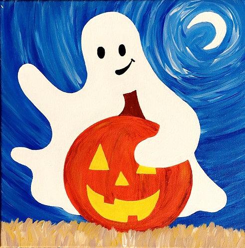 Ghost & Pumpkin Canvas