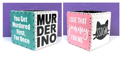 Schitt's Creek & My Fav Murder: Cube Holder