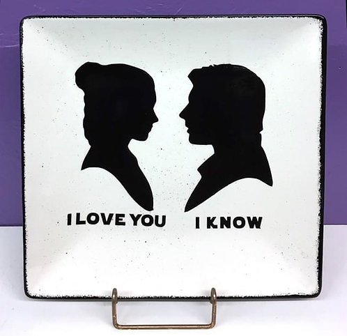 Star Wars: I Love You I Know Plate