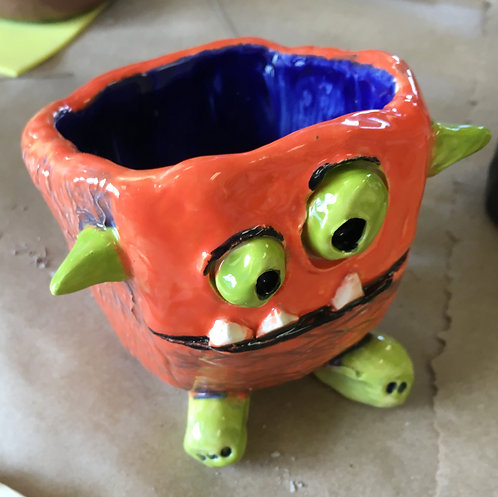 Monster Pen Cup Air Dry Clay