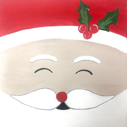 Smiling Santa Face Canvas