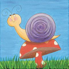 Snail on Mushroom Canvas