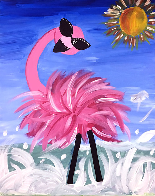 Large Flamingo Canvas
