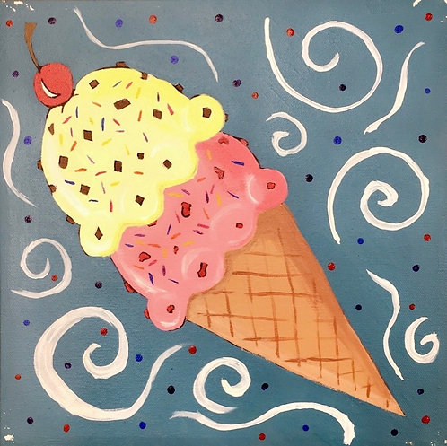 Ice Cream Canvas