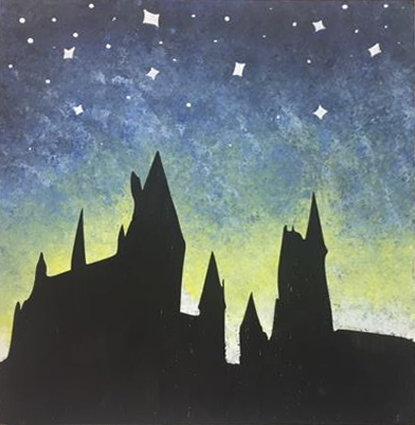 Harry Potter Hogwarts Castle Board Art