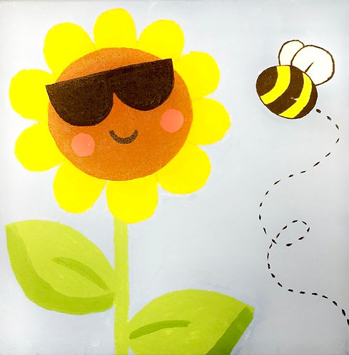 Sunflower with Sunglasses Canvas