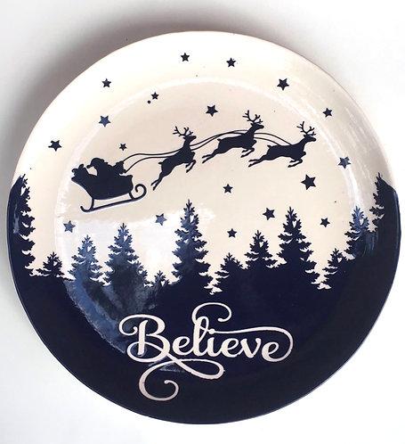 Believe Christmas Platter