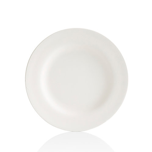 Plain Round Plate with Rim - Multiple Sizes