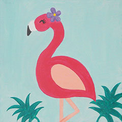 Fancy Flamingo Canvas