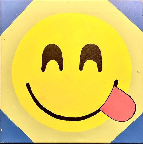 Emoji Tongue Canvas