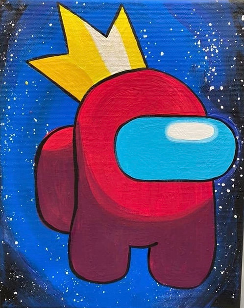 Large Among Us Crown Canvas