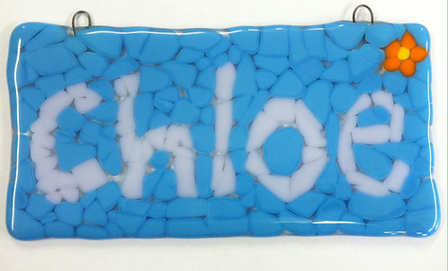 Word Plaque Glass