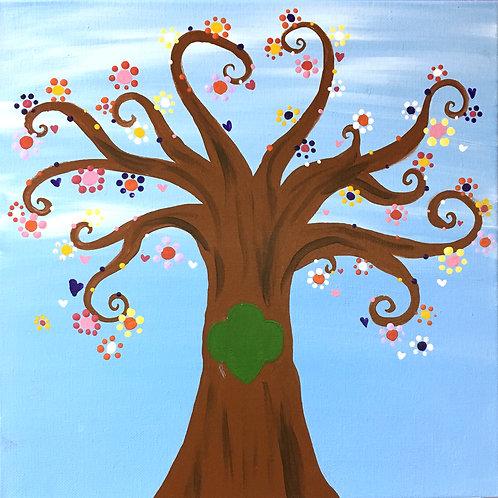 Swirl Tree Canvas