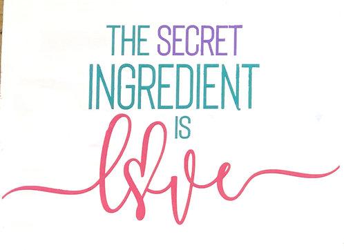 The Secret Ingredient is Love Board Art