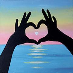 Sunset Love Canvas