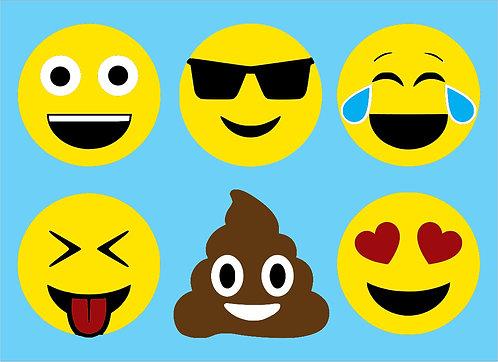 Six Emojis Board Art