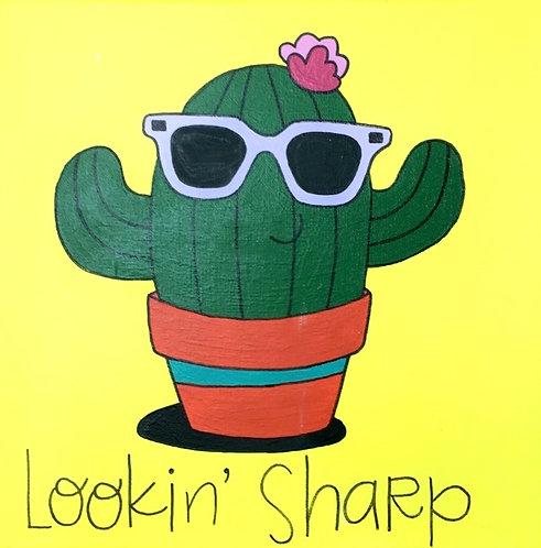 Lookin Sharp Cactus Canvas