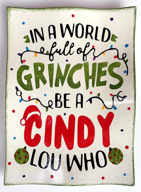 In a World full of... Christmas Platter