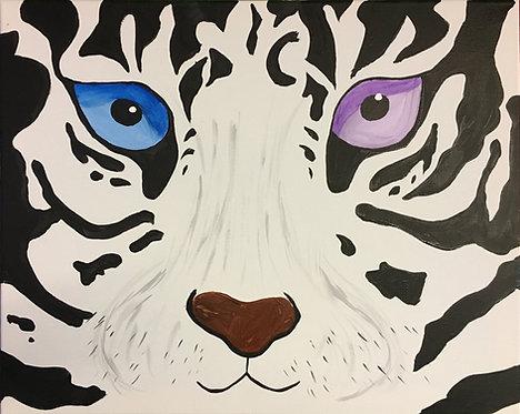 Large Snow Leopard Canvas