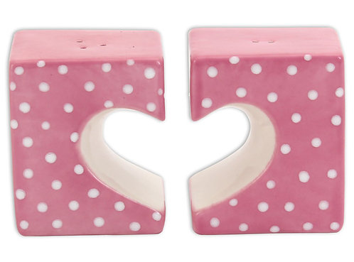 Heart Salt and Pepper Shakers