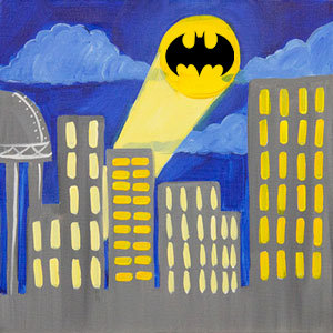 City Super Hero Signal Canvas