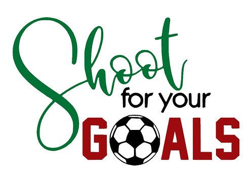 Soccer Shoot for your Goals Board Art
