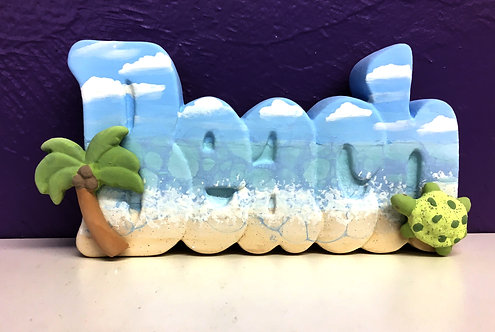 Bubbled Beach Word Plaque w/ Add-ons