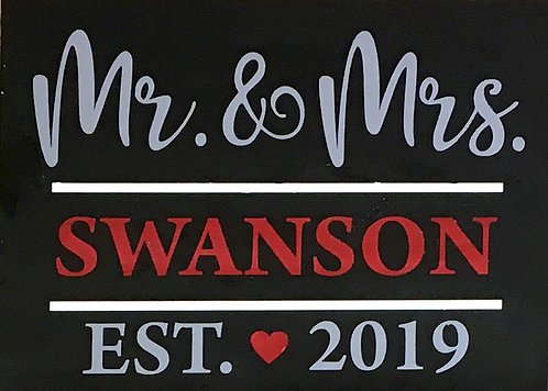 Mr & Mrs Est Board Art
