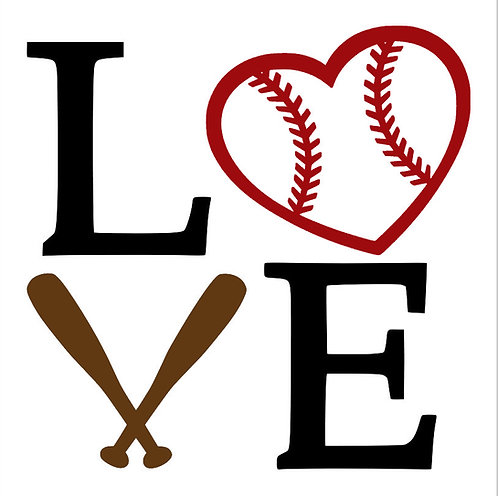 Baseball Love Board Art