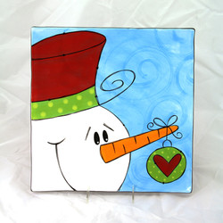 Swirly Snowman with Ornament