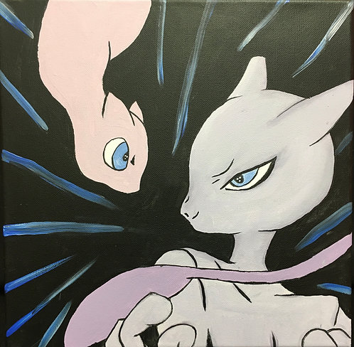 Mewtwo Canvas