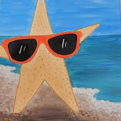 Starfish in Sunglasses Canvas