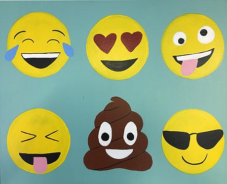 Large 6 Emoji Canvas