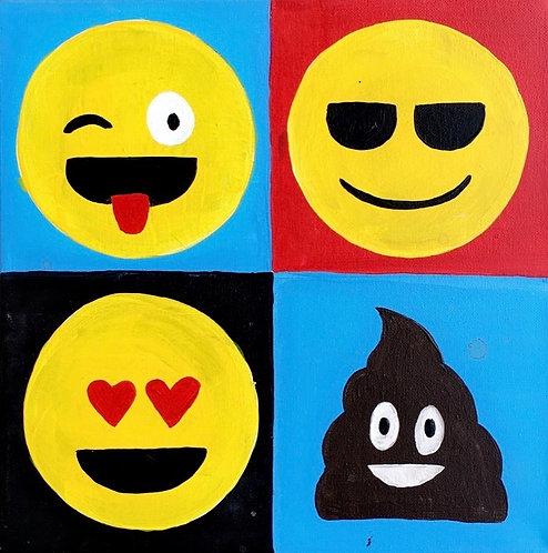 Emoji Grid Canvas