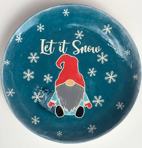 Let it snow Gnome Platter