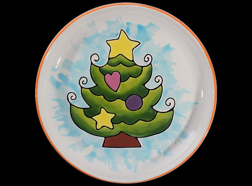 Prelined Christmas Tree Plate