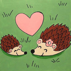 Hedgehog Love Canvas