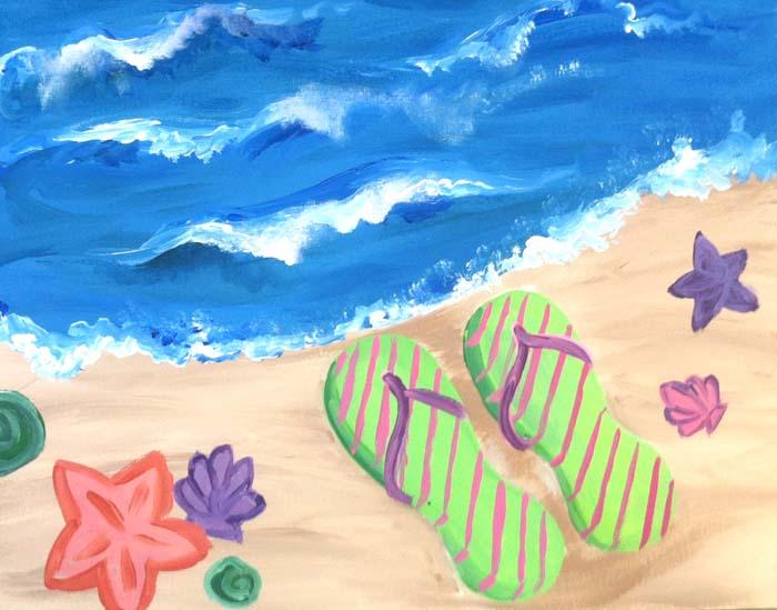 Flip Flops by the Beach