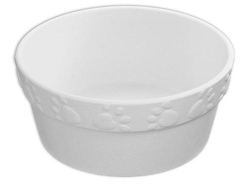 Pawprint Rim Pet Dish
